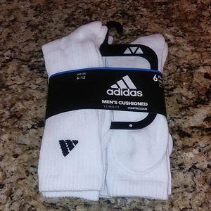 1001 Adidas Cushioned Compression Crew Socks
